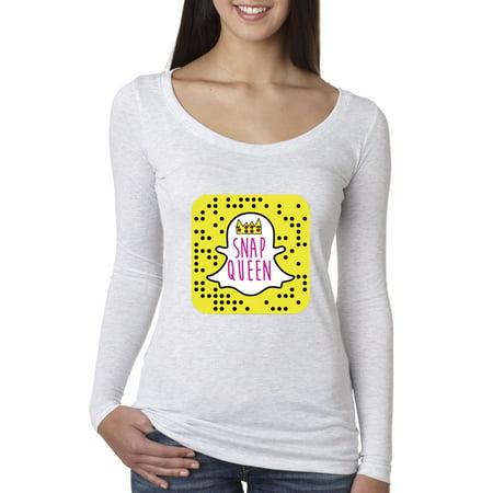 d9964e2fb New Way - New Way 376 - Women's Long Sleeve T-Shirt Snap Queen Snapchat App  Ghost Parody Funny - Walmart.com