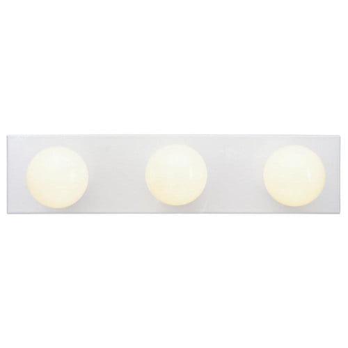 Westinghouse 6659400 3 Light White Bathroom Vanity Light Bar Walmart Com Walmart Com