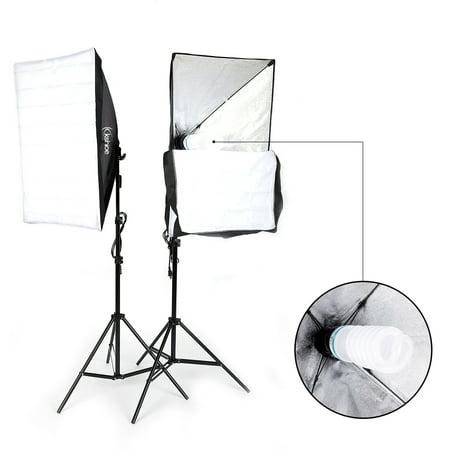 Single Softbox Kit - UBesGoo 135W Photography Studio Softbox Continuous Lighting Soft Box Light Stand Kit