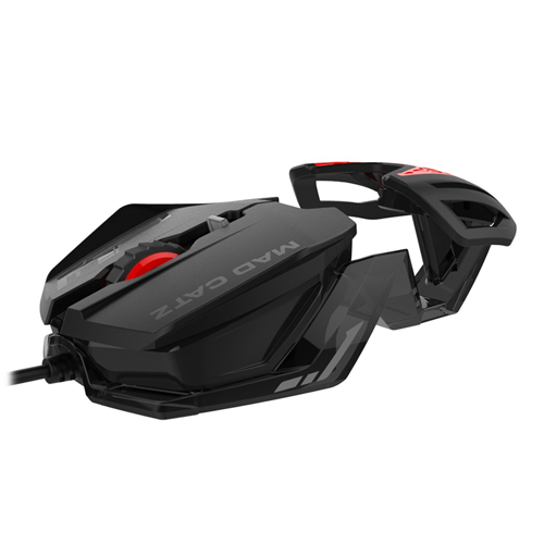 Mad Catz RAT 1 MCB4373800A3/06/1 Red 6 Buttons USB Wired Optical 1600 dpi Mouse - Refurbished