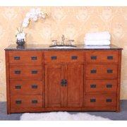 Legion Furniture 61W x 22D in. Calgary Granite Single Sink Vanity Top
