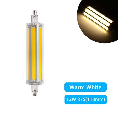 100w Flood - R7S COB LED Light Bulds, 118mm 12W AC85-265V, J Type Double Ended 100W R7S J118 Halogen Bulb Replacement Double Ended Filament Flood Lights Tube Lamps Warm White/Cool White