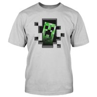 Creeper Inside Minecraft Mob Monster Adult Mens T-Shirt Gray & Green Video Game Tee Merchandise Collectible