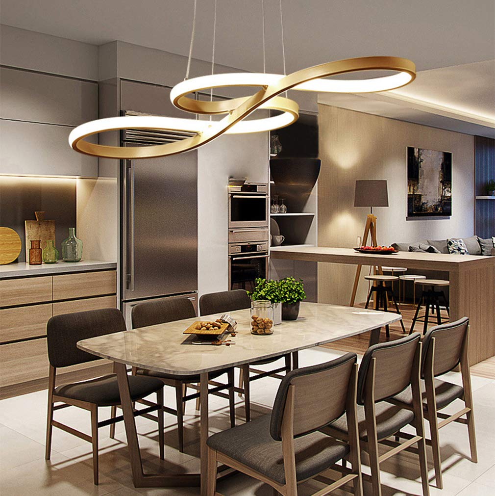 Modern LED Pendant Lighting, Chandeliers Dimmable 3000K~6500K Dining Room Ceiling Light with ...