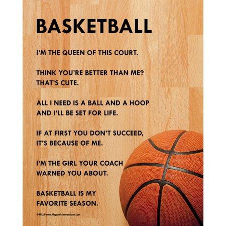 Basketball Poster Print (Unframed Basketball Female 8