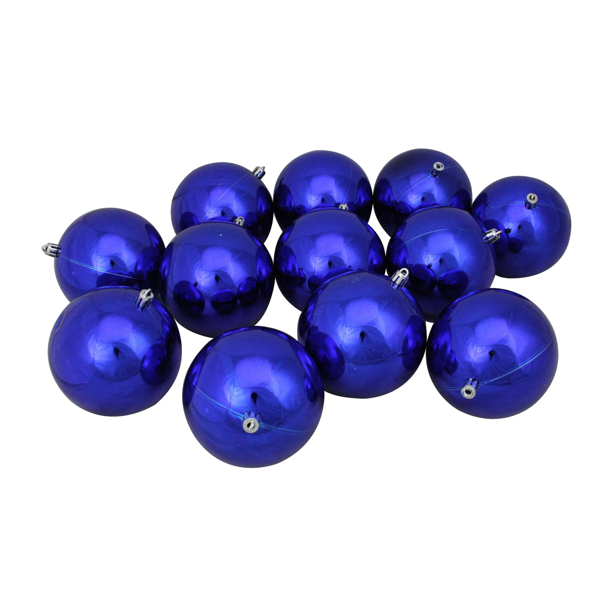 "12ct Vegas Gold Shatterproof Shiny Christmas Ball Ornaments 4"" (100mm)"