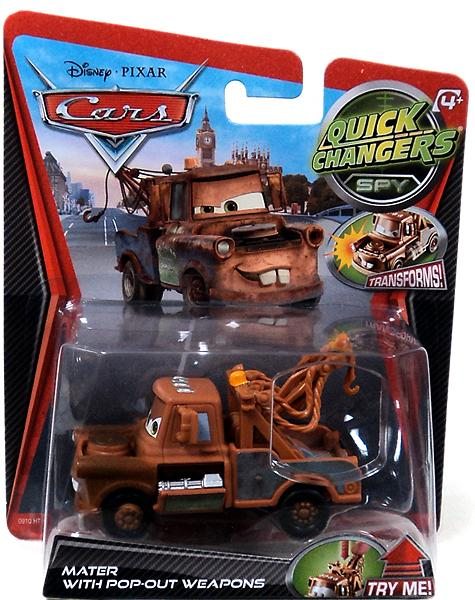 Disney Cars Quick Changers Spy Mater with Pop-Out Weapons 1:55 Diecast Car by