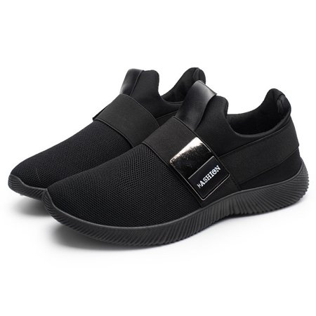 Men's Slip-on Athletic Black Socks Shoes Lightweight Breathable Outdoor Casual Sports Running Sneakers