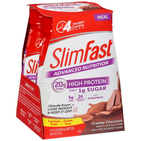 Slimfast Advanced Nutrition High Protein Meal Replacement Shake Creamy Chocolate   4 Ct