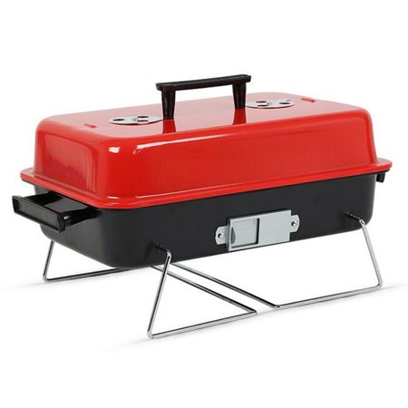 Meigar Portable Barbecue Charcoal Grill BBQ Stainless Indoor Outdoor Cooking Grill Set