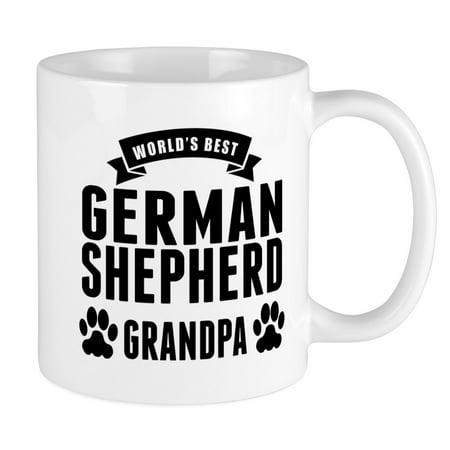 CafePress - Worlds Best German Shepherd Grandpa Mugs - Unique Coffee Mug, Coffee Cup