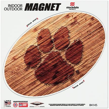 Clemson Magnet - Clemson Tigers 6 x 6 Wood Design Magnet - No Size
