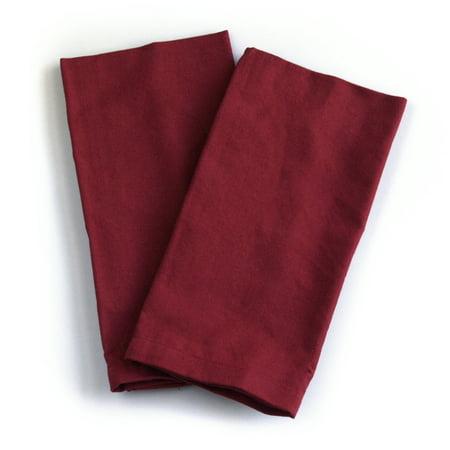Park B. Smith Dalton Berry Red 100% Cotton Cloth Dinner Napkin, Set of 6 - Red Cloth Napkins