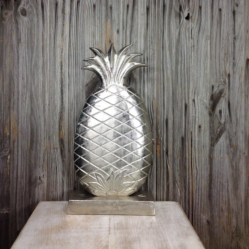 Mills Floral Company Aluminum Pineapple Statue