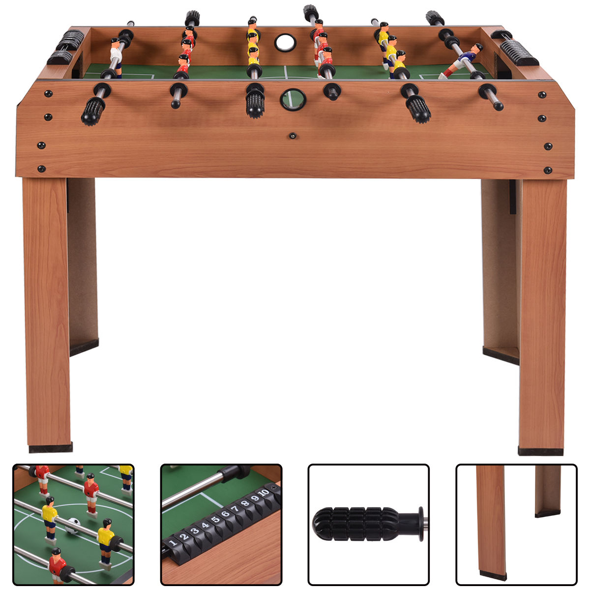 Costway 37'' Foosball Table Competition Game Soccer Arcade Sized football Sports Indooor by Costway