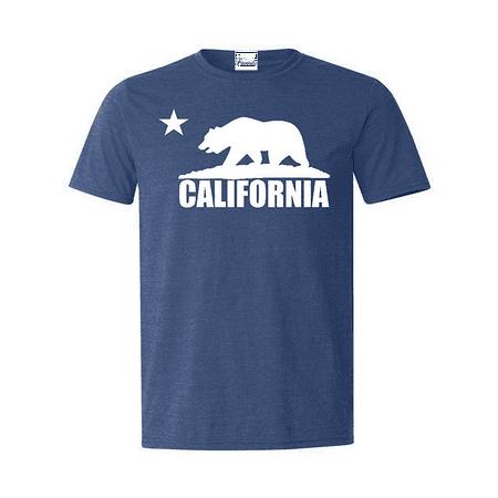 California Republic Bear White T-shirt California Shirts California Dog T-shirt
