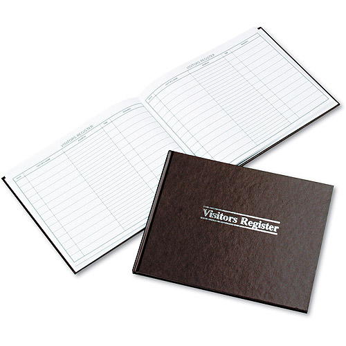 Wilson Jones Visitor Register Book, Red Hardcover, 112 Pages