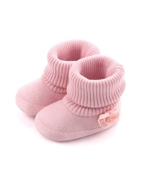 Kacakid Newborn Spring Autumn Baby Shoes Soft Anti-slip Flower Shoes First Walkers Baby Infant Boots