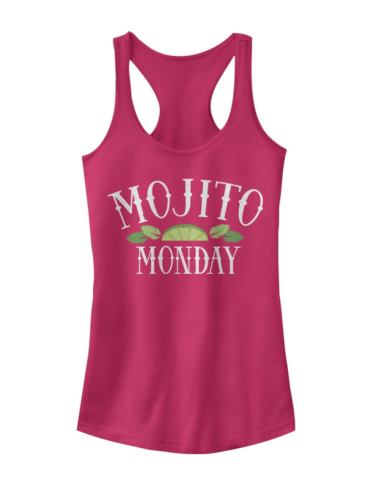 Chin Up Juniors' Mojito Monday Racerback Tank Top