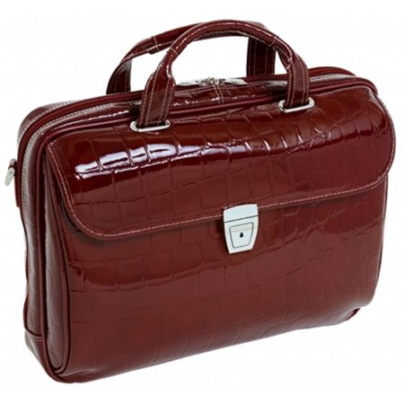 Settembre Red Leather Medium Ladies Laptop Brief