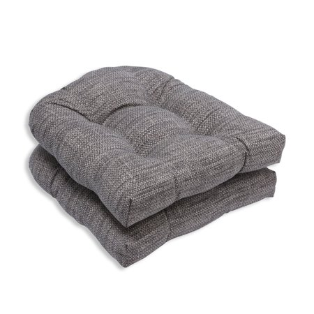 pillow perfect outdoor indoor remi patina wicker seat cushion set of 2. Black Bedroom Furniture Sets. Home Design Ideas