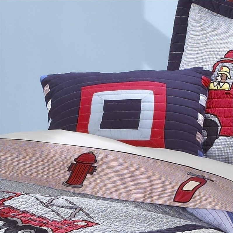 PEM America Fireman Pillow in Multicolor
