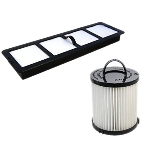 HQRP Dust Cup Filter and Exhaust Filter for Eureka AirSpeed AS1001A, AS1000A, AS1001AX, AS1001AE Upright Vacuums + HQRP Coaster