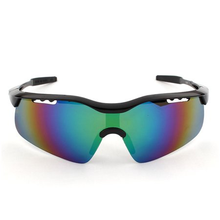 VicTsing Men's Mirror Lens Cycling Fishing Baseball Sport Wrap Sunglasses Multicolor (Best Lens Color For Fishing)