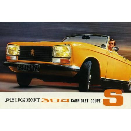1972 Peugeot 304 Cabriolet S sales brochure Print Wall Art