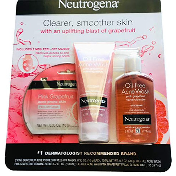 Neutrogena Acne Prone Skincare Treatment Kit Includes Foaming