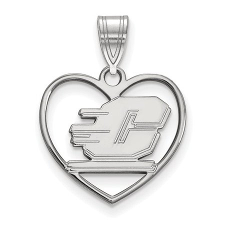 Michigan Heart (Sterling Silver Official Licensed Collegiate Central Michigan University (CMU) Pendant in)