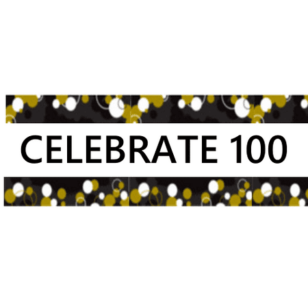 100th MyShinningStar Birthday / Anniversary Celebration Party Decoration Indoor - 100th Birthday Banners