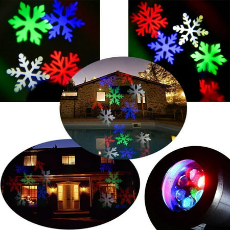 Led Christmas Projector Light Rotating Multi Color