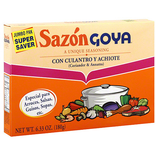 Goya Sazon Flavor Packet With Coriander & Annatto, 6.33 oz (Pack of 15)