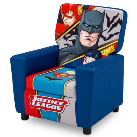 DC Comics Justice League Youth High Back Upholstered Chair by Delta Children