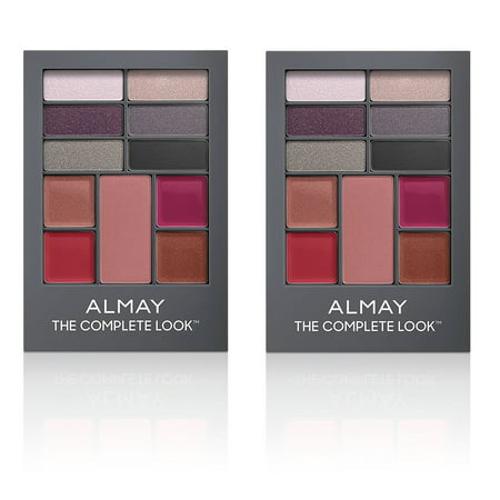 Almay The Complete Look Palette, Makeup for Eyes, Lips and Cheeks #300 Medium/Deep Skin Tones (Pack of 2) + Beyond BodiHeat Patch, 1 - Hollow Cheeks Makeup Halloween