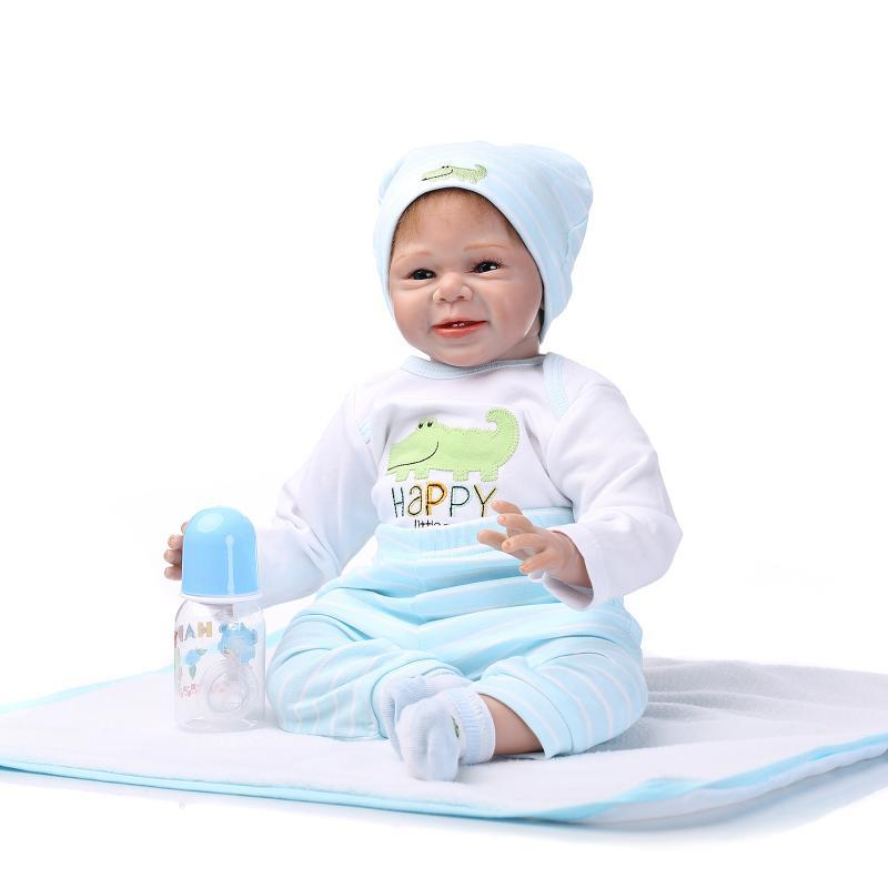 Ktaxon Reborn Baby Doll Soft Silicone vinyl 22inch Lovely Lifelike Cute Toy Sky Blue