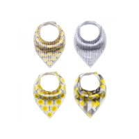 Lavaport 13 Colors Baby Unisex Bandana Bibs Cotton Bib For Drooling Teething 4-Pack 0-3Y