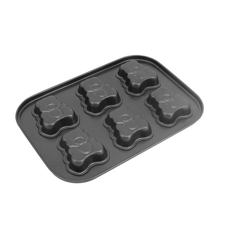 Charity Bear - Unique Bargains Metal 6 Cavities Bear Shape Cookie Bread Cake Chocolate Mold Baking Pan