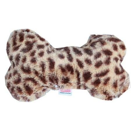 Mirage Pet 40-36 CHT 6 in. Plush Bone Dog Toy - Cheetah
