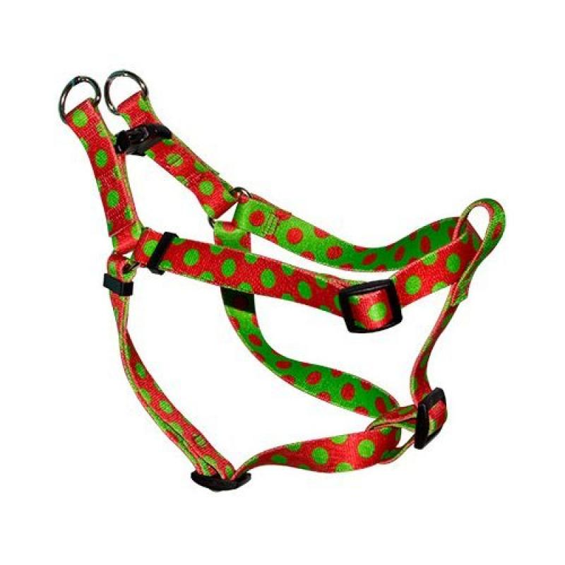 Yellow Dog Design Step-In Harness, Small, Christmas Polka