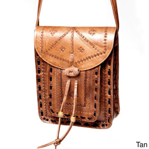 Moroccan Buzz Crossbody Leather Messenger Bag (Morocco)