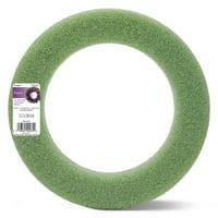 FloraCraft Foam Wreath 15.7 Inch Green