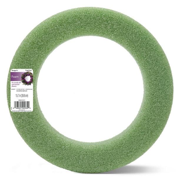Floracraft Foam Wreath 15 7 Inch Green Walmart Com Walmart Com