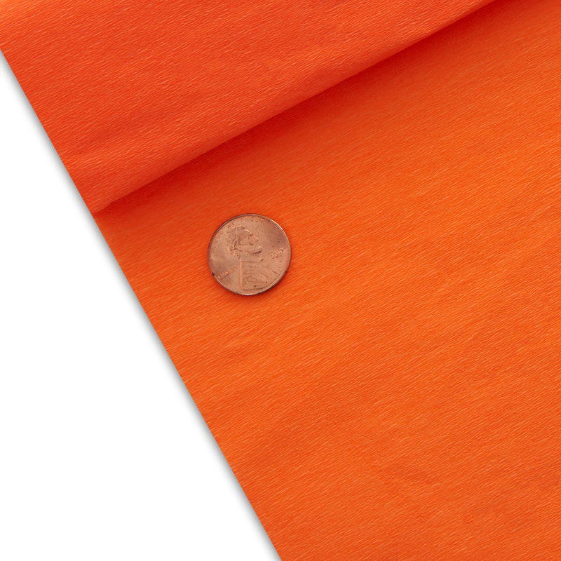 "10ea - 19 5/8"" X 6-1/2' Torrid Orange Economy Crepe Paper by Paper Mart"