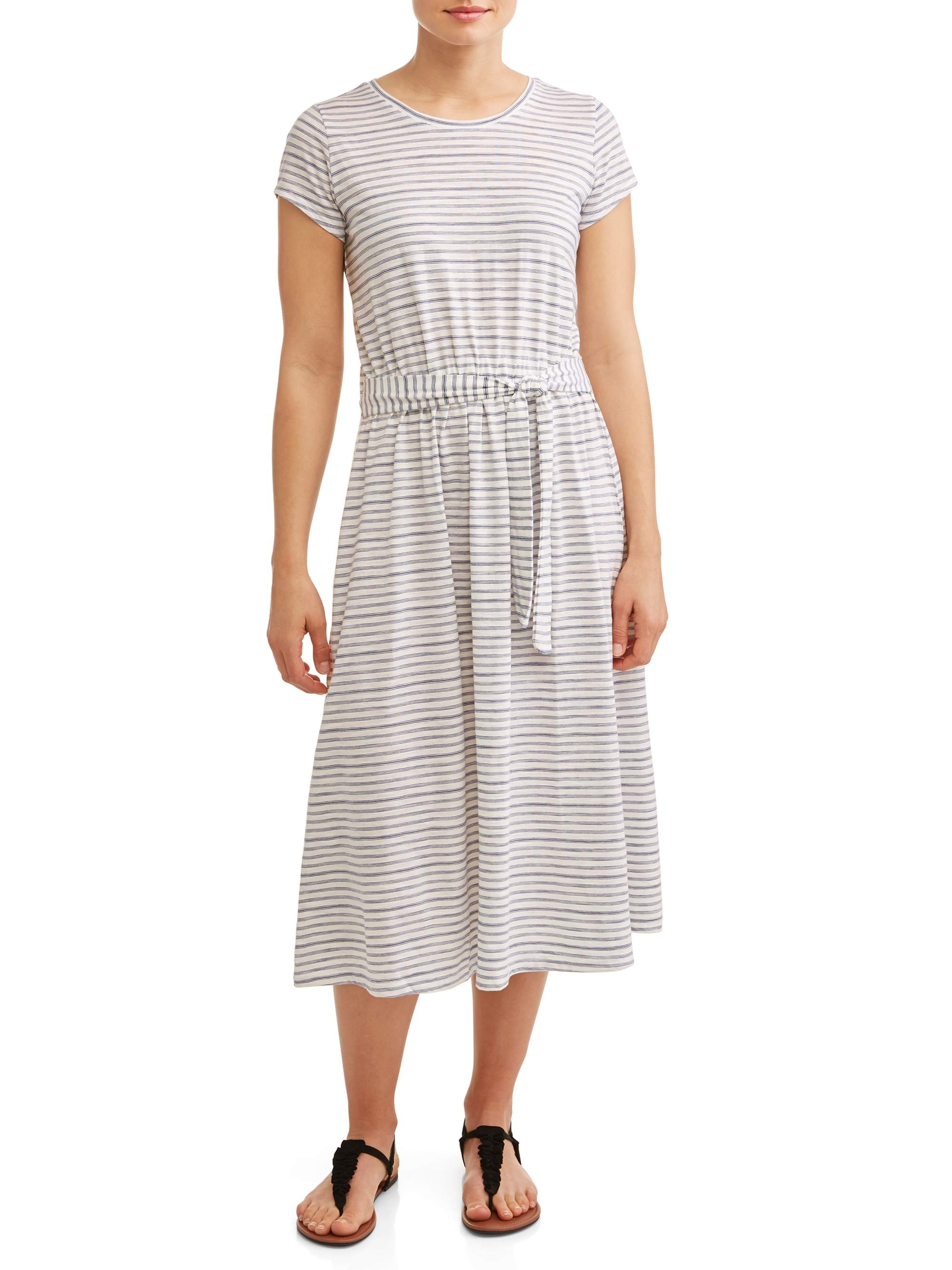 Women's Knit Tie Waist Dress