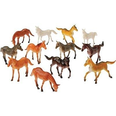 U.S. Toy 2 Dozen (24) Mini Plastic Horse Figures 2.5