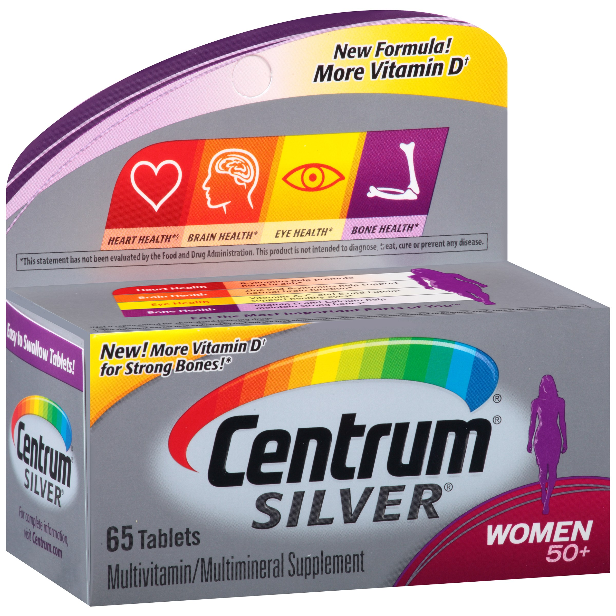 Centrum Silver Women 50+ Multivitamin Tablets, 65 ct