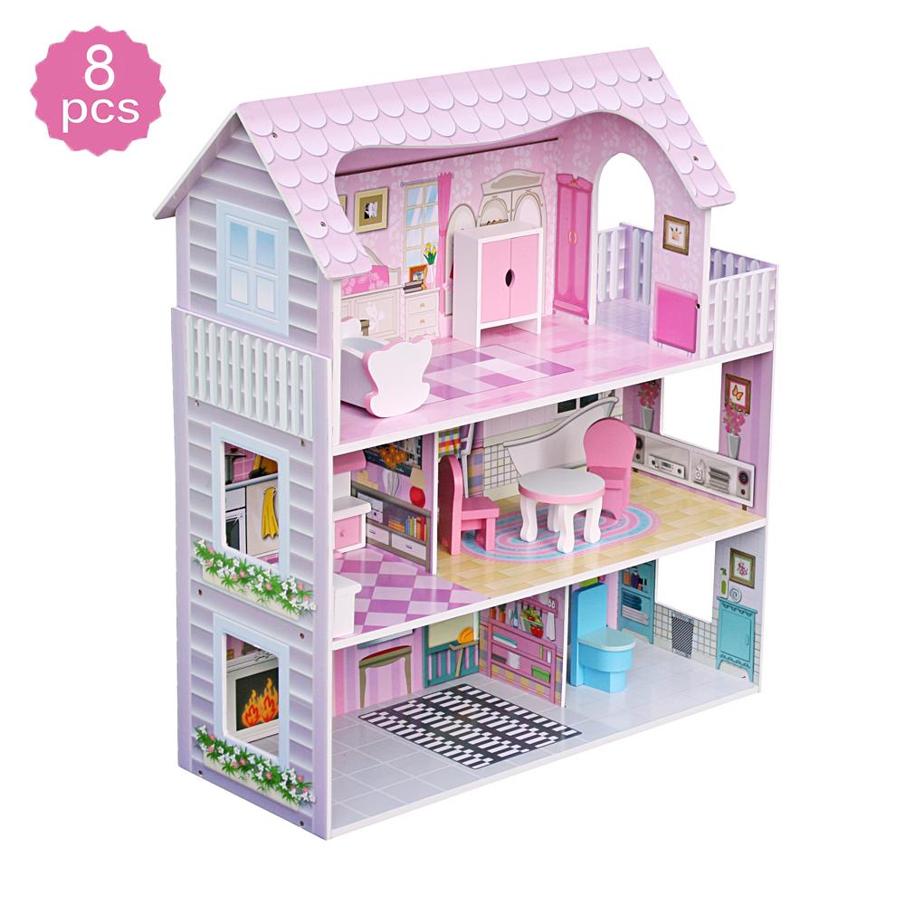 1 Set//8pcs mini dollhouse miniature accessories mini color pencil/_sh