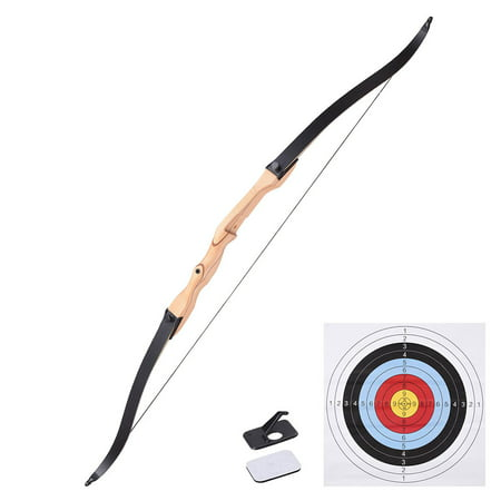 """65"""" Hunting Take Down Recurve Bow Right Hand Draw Weight 30lbs Traditional Archery Long Bow Outdoor"""